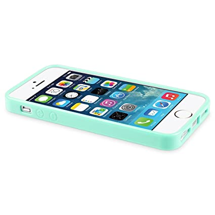 Amazon.com: Gosasa Colorful Jelly TPU Gel Plain Rubber Snap-on Skin Case Cover for Iphone 5 5s - Mint Green Jelly: Cell Phones & Accessories