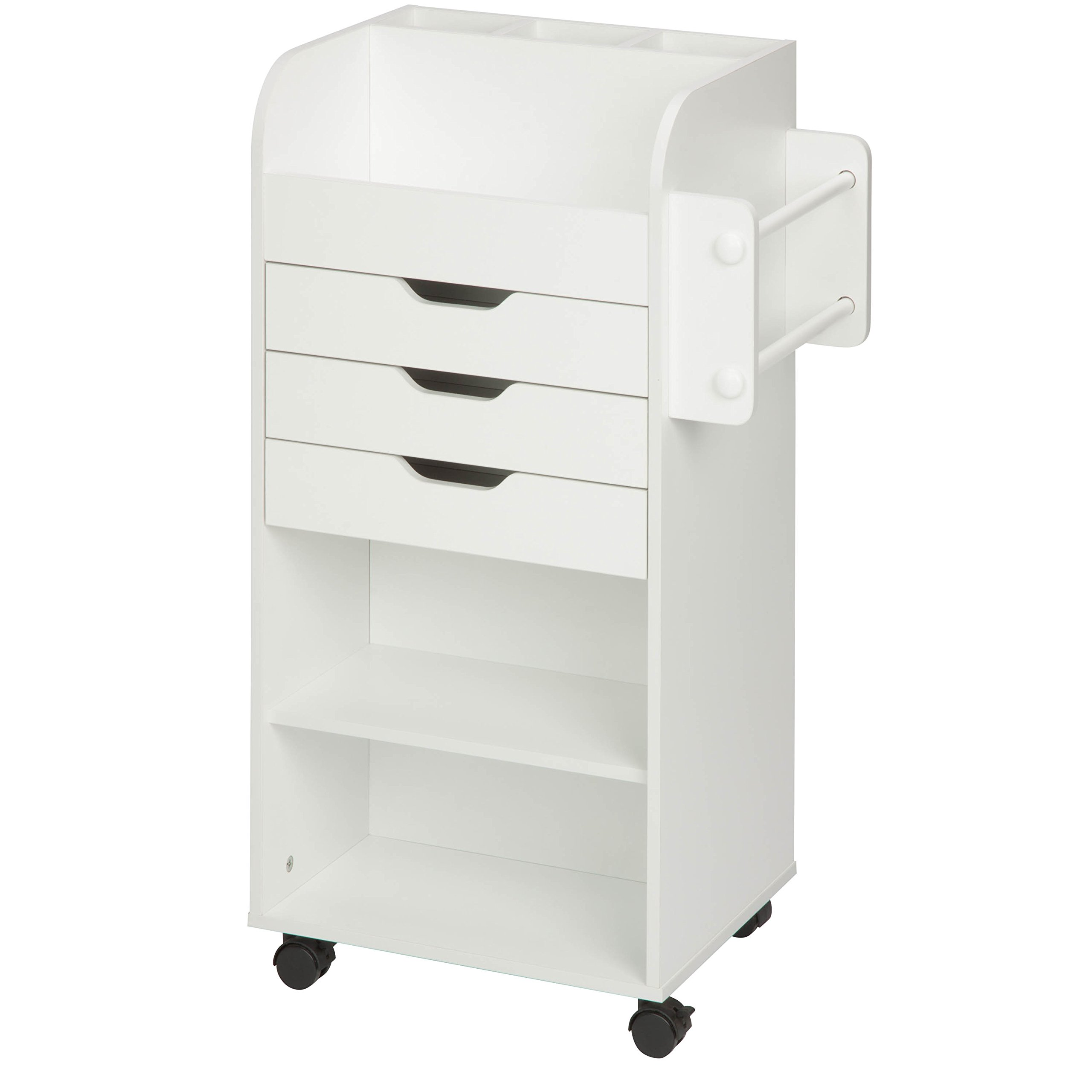 Honey-Can-Do CRT-06346 Rolling Craft Storage Cart with 3-Drawers, White, 19.13L x 33.62H, 19.13'' x 33.62'', by Honey-Can-Do