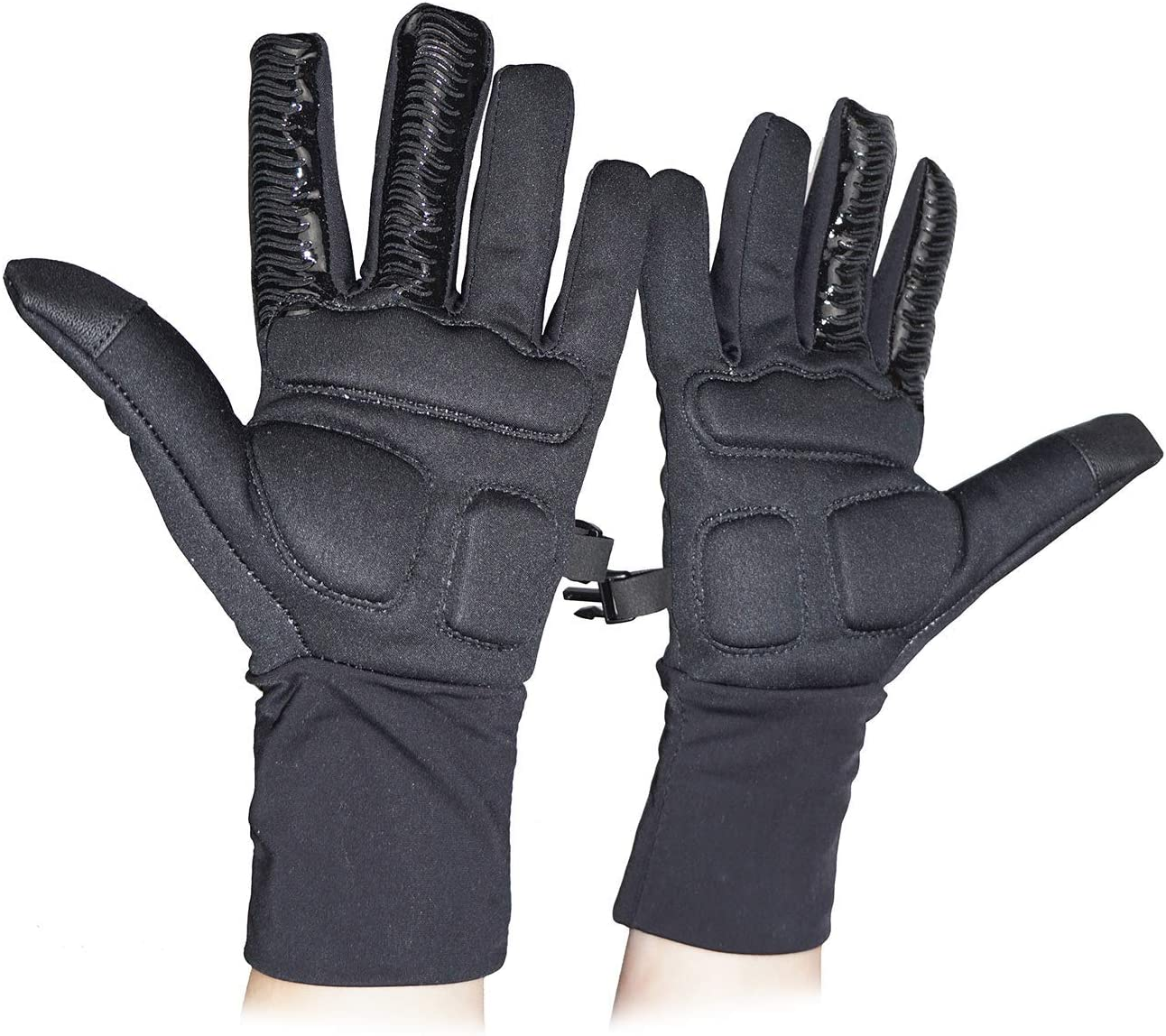 Figure Skating Gloves Padded Gel Palm Protection Water Resistant Warm Touchscreen Non Slip
