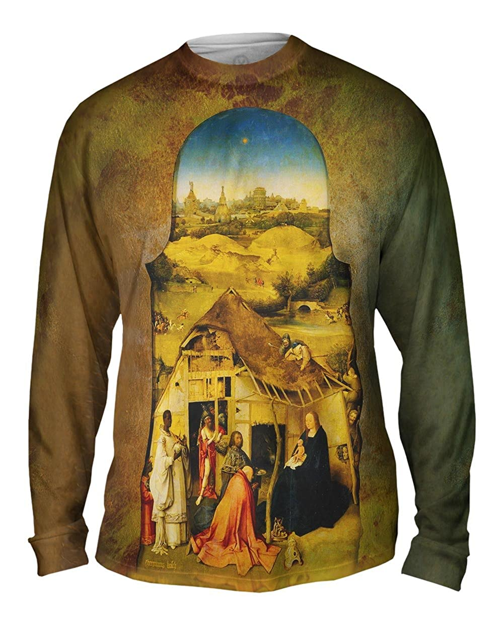 Hieronymus Bosch Yizzam Mens Long Sleeve 1611 The Adoration of