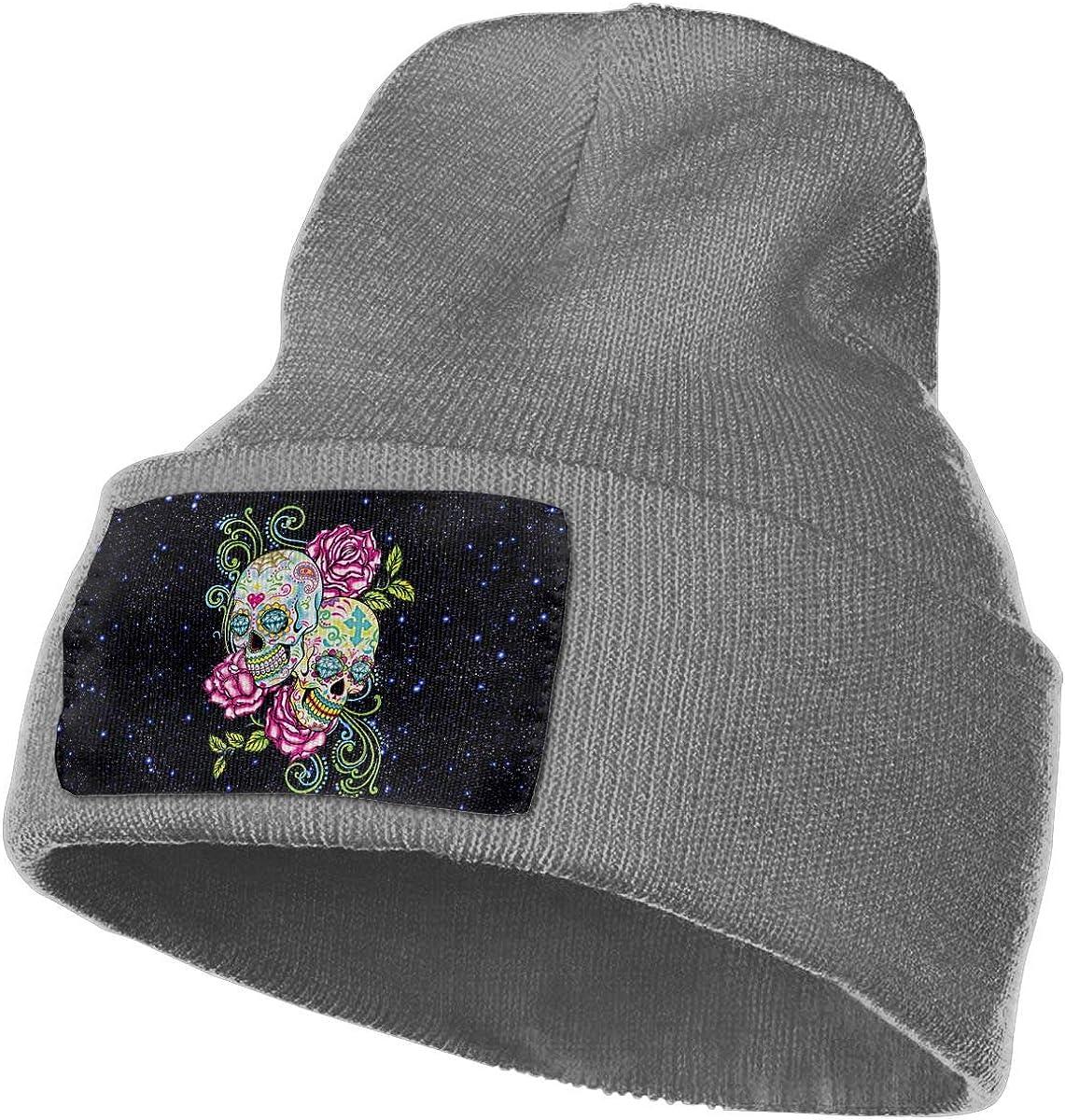 Sugar Skulls Unisex 3D Knitted Hat Skull Hat Beanie Cap