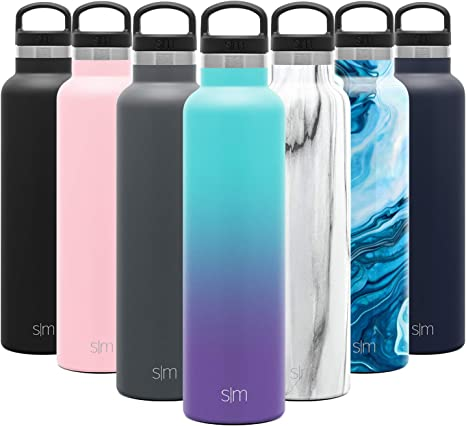 Moonlight Simple Modern 17oz Straw Lid Ascent Water Bottle with Straw Lid Stainless Steel Hydro Thermos Tumbler Double Wall Vacuum Insulated Small Reusable Metal Leakproof Ombre