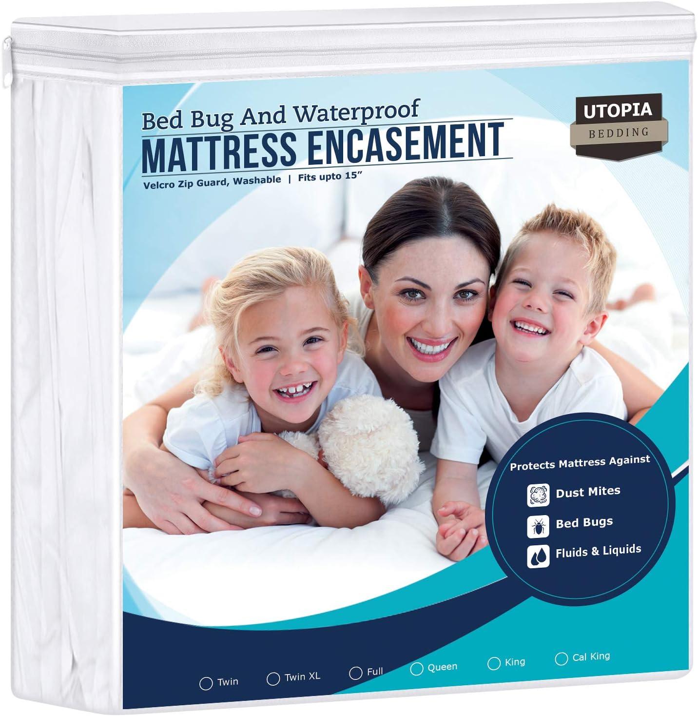 Utopia Bedding Zippered Mattress Encasemen