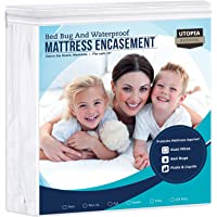 Utopia Bedding Waterproof Zippered Mattress Encasement Cover - Bed Bug Proof, Vinyl Safe and Hypoallergenic Protection