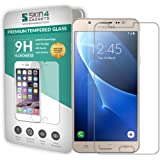 Samsung Galaxy J7 2016 Tempered Glass Screen Guard Protector Ultra Strong (9H)-Slim by Skin4Gadgets with Gift Card of Rs.200.