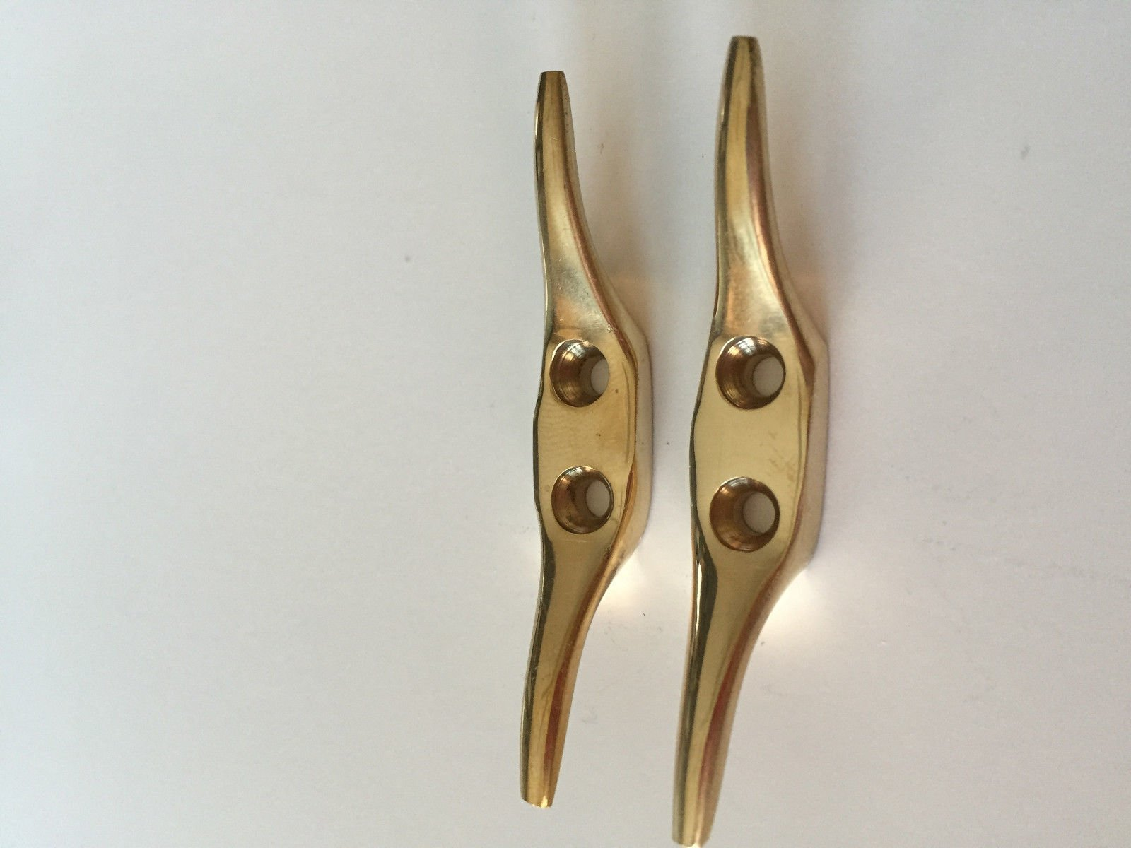 BOAT DOCK CLEAT 2 1/2'' SOLID BRASS BOAT PAIR