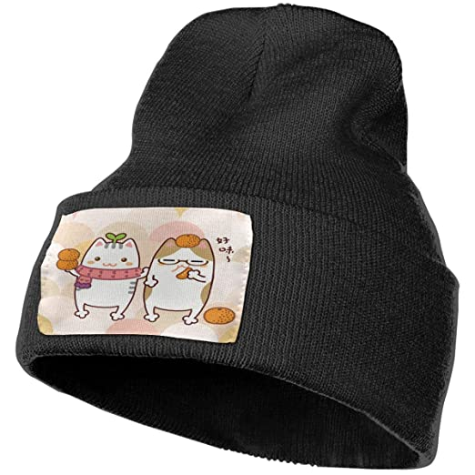 Cat Love Orange Hat for Men and Women Winter Warm Hats Knit Slouchy ... 03887e445