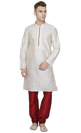 d0c024f90f06 Amazon.com  Kurta Pajama for Men Long Sleeve Shirt Pyjama Set Indian Ethnic Wedding  Party Dress  Clothing