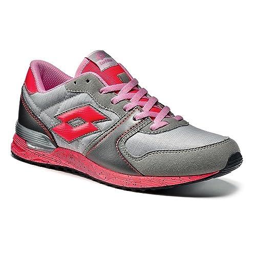 Lotto Sport - Zapatillas de Voleibol de Material Sintético Para Hombre Varios Colores Grigio/Fuxia 36: Amazon.es: Zapatos y complementos