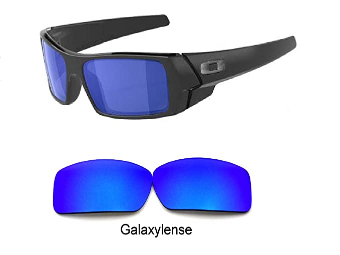 a975a0de3da6e Amazon.com  Galaxy Replacement lenses For Oakley Gascan Polarized Blue 100%  UVAB  Clothing
