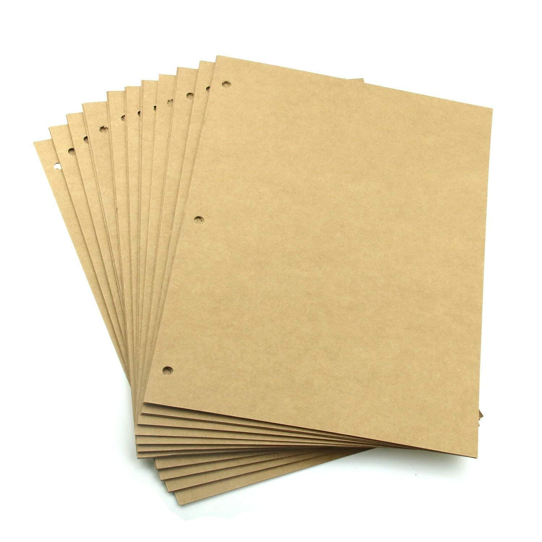 Boic Scrapbook Black Paper 26x 18CM, Refill Pages for DIY Scrapbook Album 28 x 21CM, 20pcs (Black Paper)