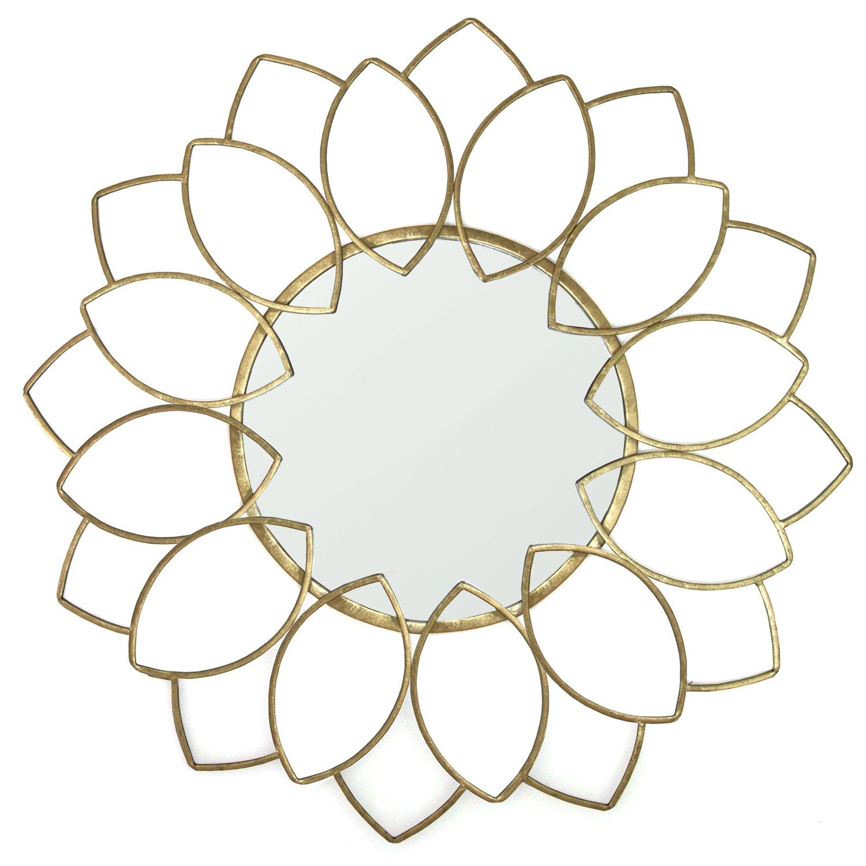 Stratton Home Décor S11551 Lauren Wall Mirror, Gold