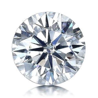 Van Rorsi Mo Moissanite Df Colorless Simulated Diamond Loose Stone Round Brilliant Cut Vvs Clarity