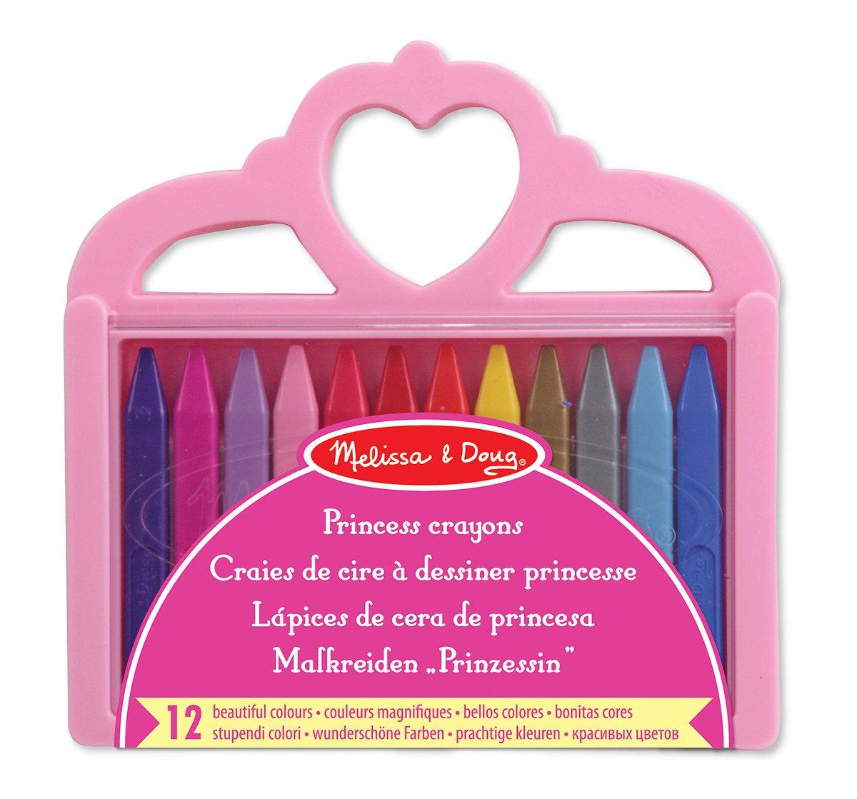 Melissa & Doug Princess Crayon Set - 12 Colours 14155