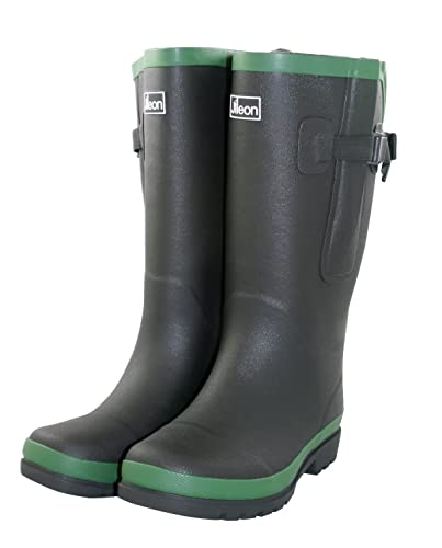 bd8ee66bea7 Jileon Extra Wide Calf Rubber Rain Boots with Rear Expansion - Wide in Calf