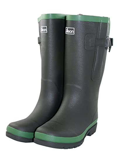 57c14f47227 Jileon Extra Wide Calf Wellies with Rear Expansion- Fit up to 50cm Calf -  Widest Fit in The UK - Large in The Ankle and Foot