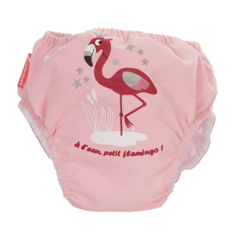 Traje de ba/ño con pa/ñal para Nadar eclipsable y barreras Anti Fuga patentadas Swim+ Flamingo Rosa PIWAPEE