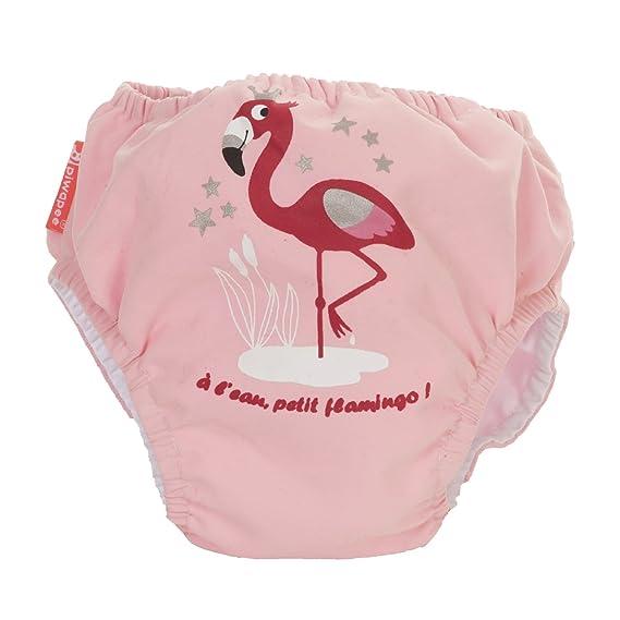 PIWAPEE – Traje con capa de baño Clipsable Swim + Anti Fuga Flamingo Rosa rosa Rose