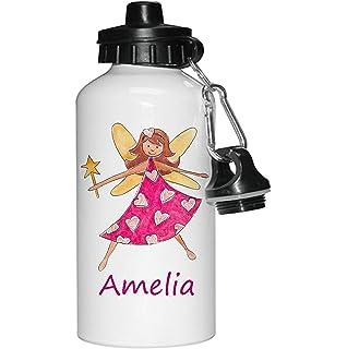 5abcee14ca Water Bottle,Kids Drinks bottle,Personalised, Fairy Girl, Girls Bottle,  School
