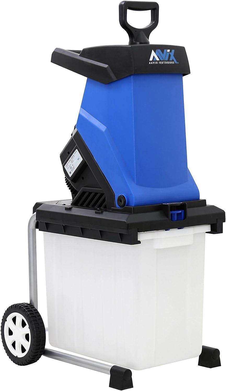 AAVIX AGT308 Electric Chipper & Shredder, Blue