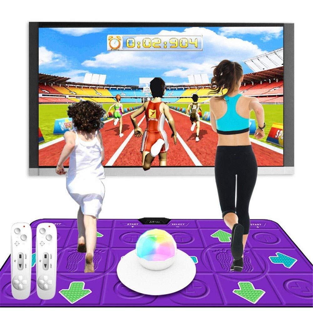 Amazon.com: Atten 3D Double Dance Mat LED Running Blanket ...