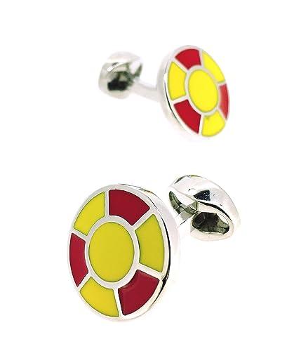 Gemelos para Camisa Balón Colores España: Amazon.es: Joyería