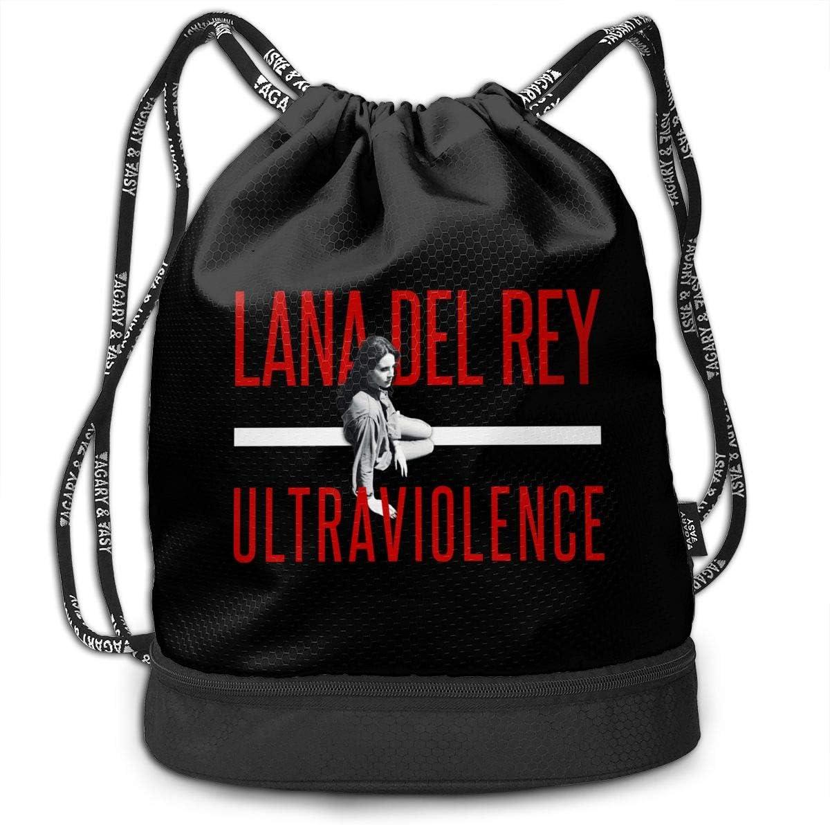 DIDhsswuz Lana Del Rey Unisex Drawstring Backpack Drawstring Bag Bundle Backpack Yoga Bag