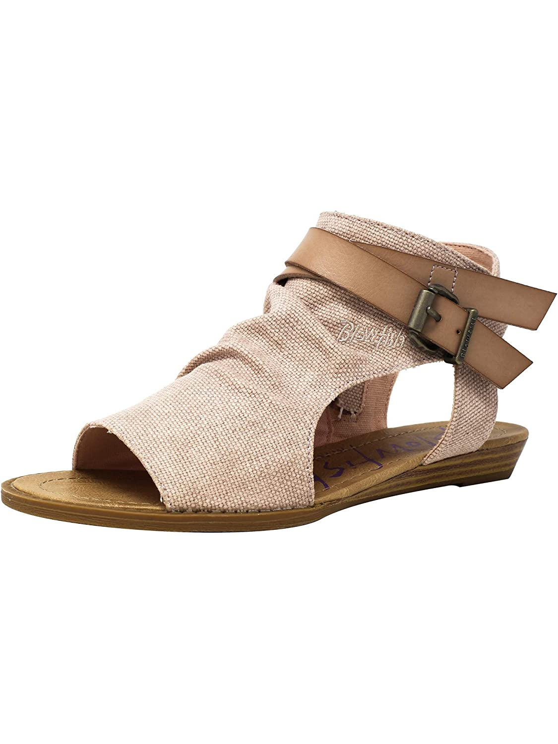 bluesh Rancher Canvas Dyecut Pu Blowfish Women's Balla Wedge Sandal