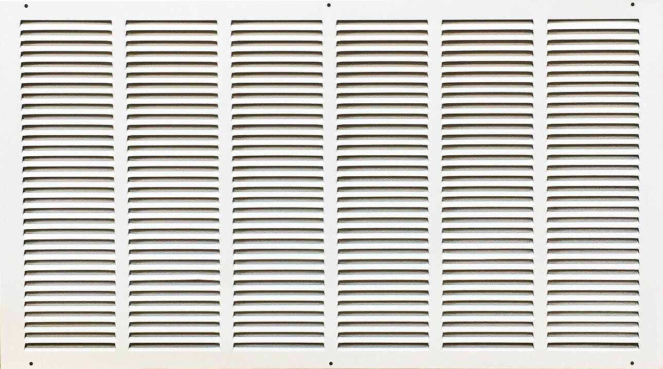 Steel return air grille in white without frame (30'' x 16'')