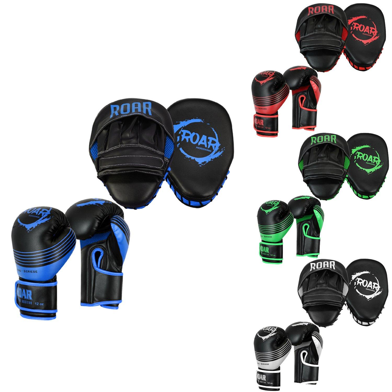 新しい季節 Roarボクシンググローブ& MMAフォーカスパッドセットフックJabトレーニングMitts 8oz 8oz ブルー ブルー B07FTGD2CV B07FTGD2CV, アビコシ:81775a07 --- a0267596.xsph.ru