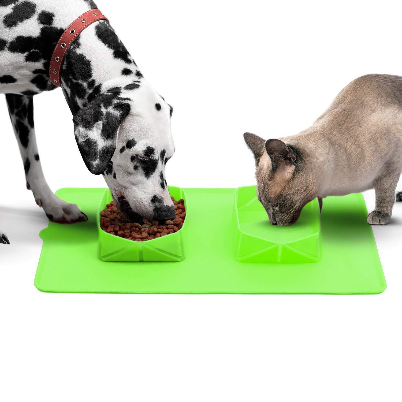 Comedero y Bebedero Plegable para Perros y Gatos | Comedero Doble para Mascotas Grandes y pequeñas
