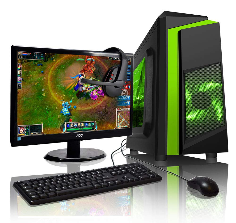 ADMI Gaming PC Package: AMD 200GE 3 3GHz Vega Graphics, 16GB DDR4, 1TB HDD,  22