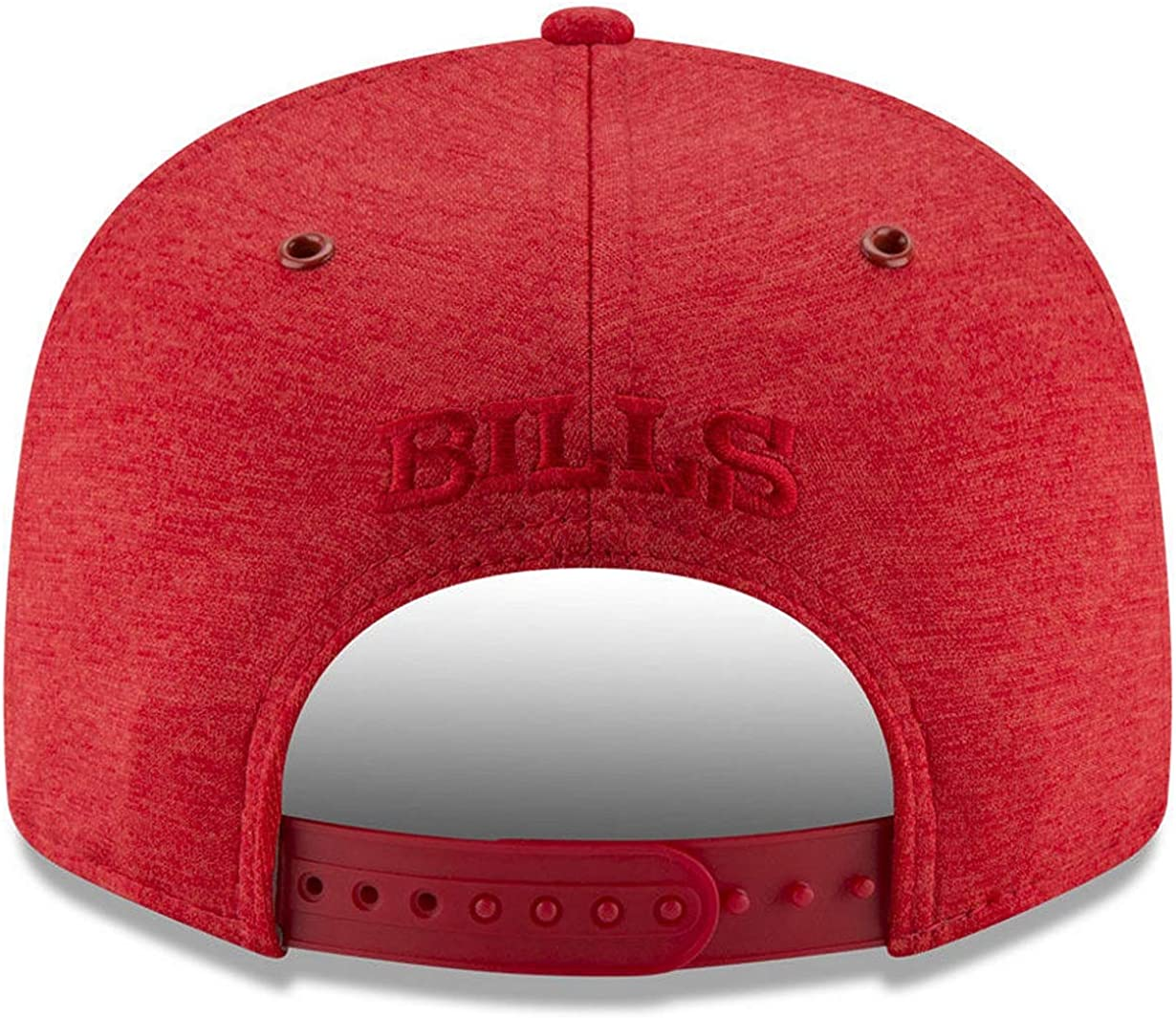 Adjustable Red Hat New Era NFL Buffalo Bills 9FIFTY Tonal Heat Snapback Cap