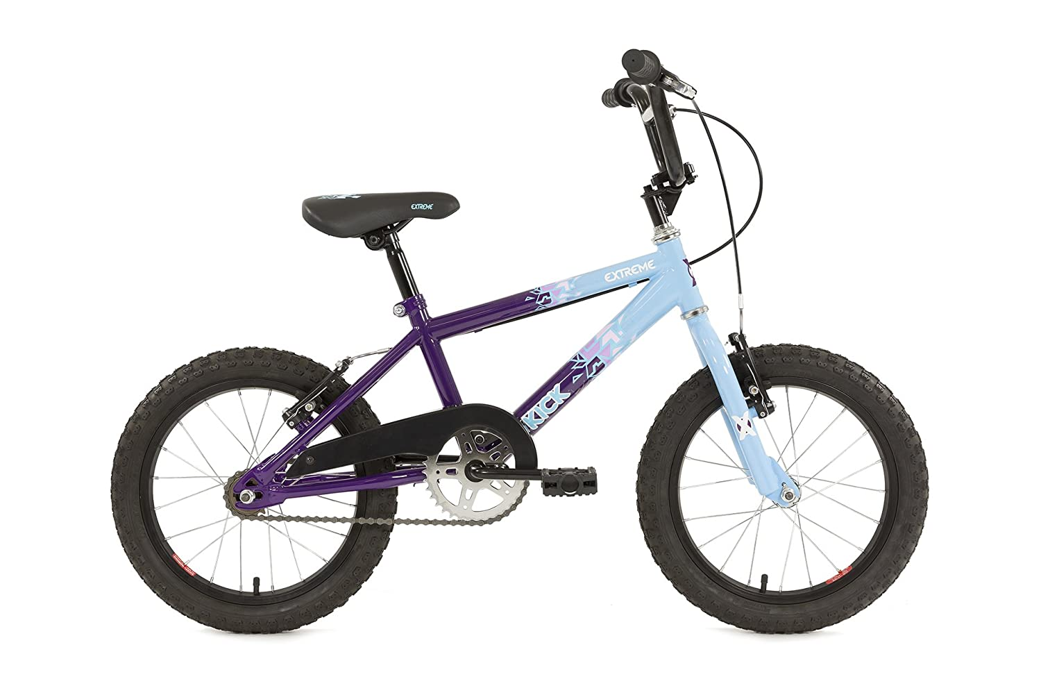 7d5e3b23b4e Extreme Kids Kick Bmx 16 10 R Bike - Blue And Purple