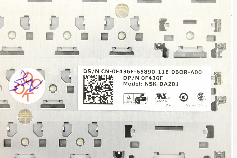 Dell OEM F436F Black Keyboard Latitude XT2 XFR XT2