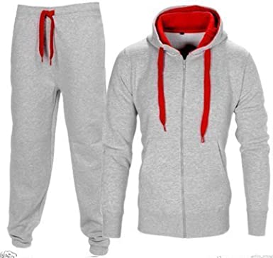 Mens Pull String Contrast Hood Unisex Fleece Hoodie Top Gym Draw Cord Pullover Hooded Top Jumper