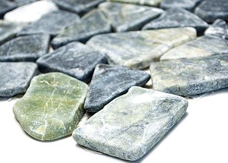 Mosaico piastrelle di rete rottura ciot mix grigio verde marmo