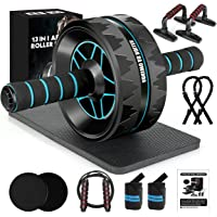 13-in-1 Ab Roller Wheel Kit, Home Gym Abs Workout Exercise Equipment for Men/Women