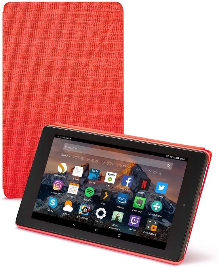 Amazon - Funda para Fire HD 8 (tablet de 8 pulgadas, 7ª y 8ª generación, modelos de 2017 y 2018), Rojo