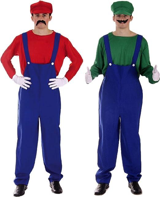 Mario bross y Luigi para Mayores de diseño de Pareja Fancy Disfraz ...
