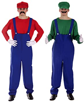 Mario and Luigi Mens Adult Couples Fancy Dress Costume  sc 1 st  Amazon UK & Mario and Luigi Mens Adult Couples Fancy Dress Costume: Amazon.co.uk ...