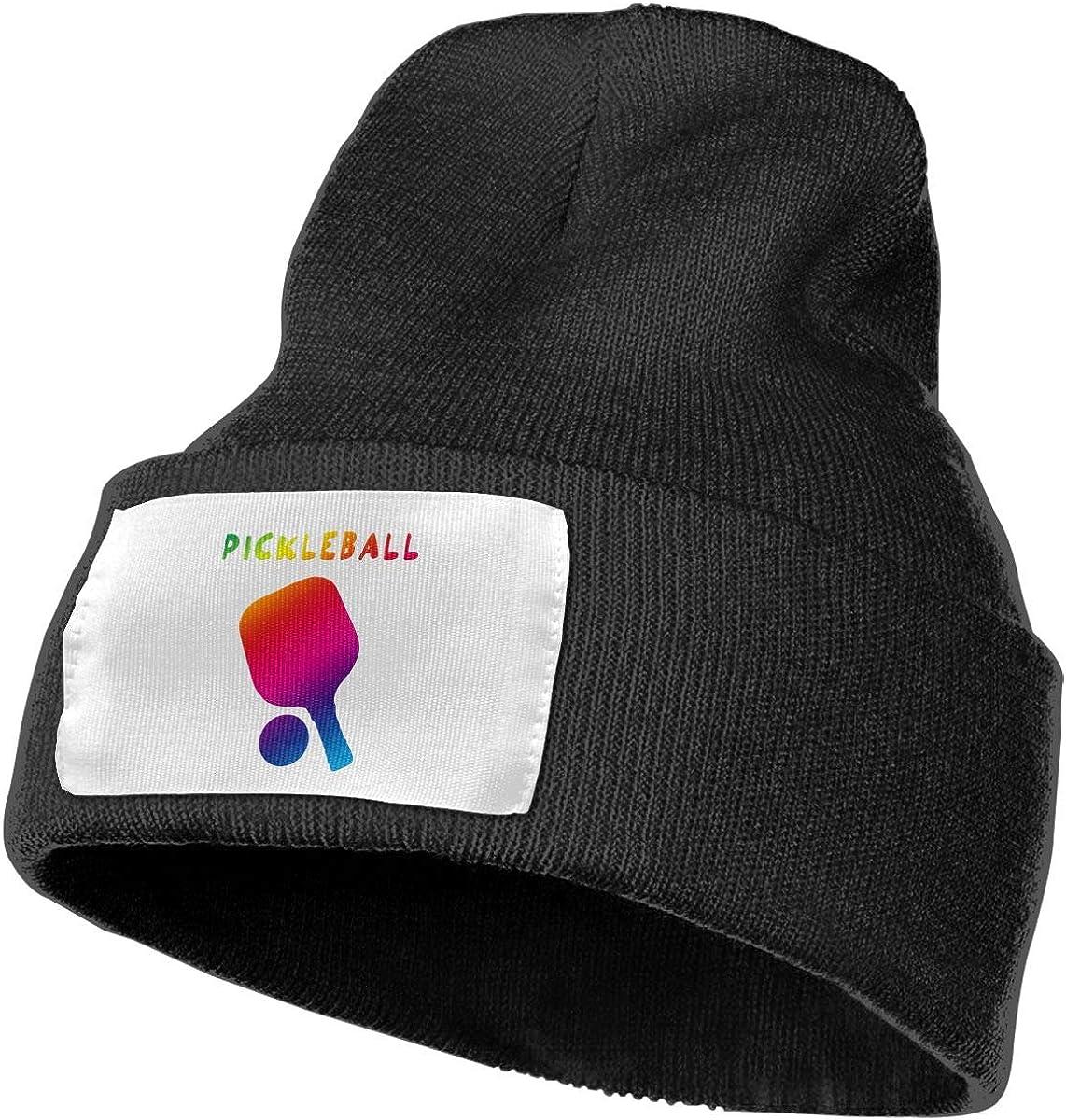 3208cx41 Pickleball Wool Hat Women//Men Soft Stretch Knit Beanie Hat Winter Warm Skull Cap