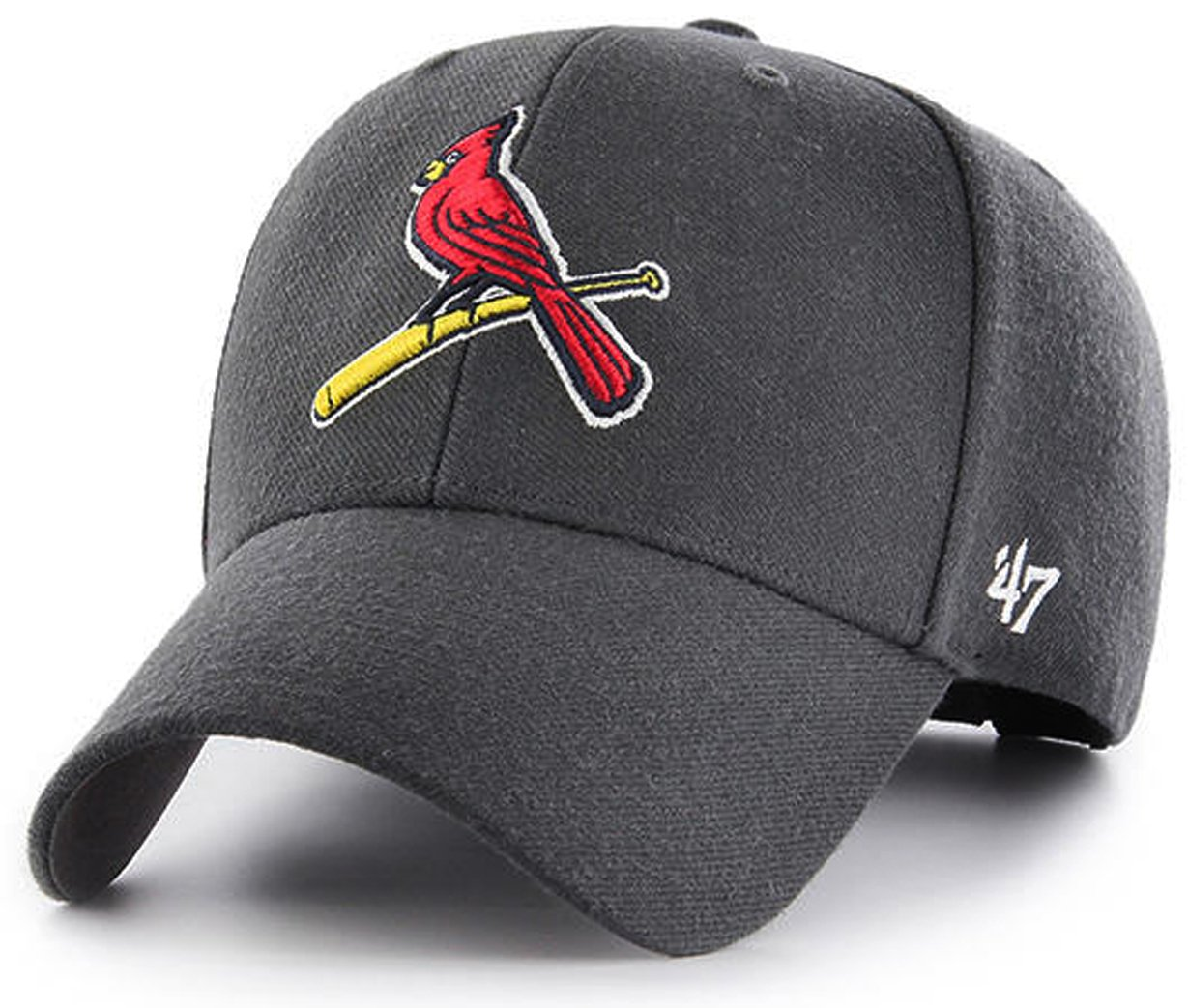 best sneakers df4a8 dae34 Amazon.com   47 Authentic Gray St. Louis Cardinals Cooperstown The Bird  Charcoal MLB Adjustable - MVP  Sports   Outdoors