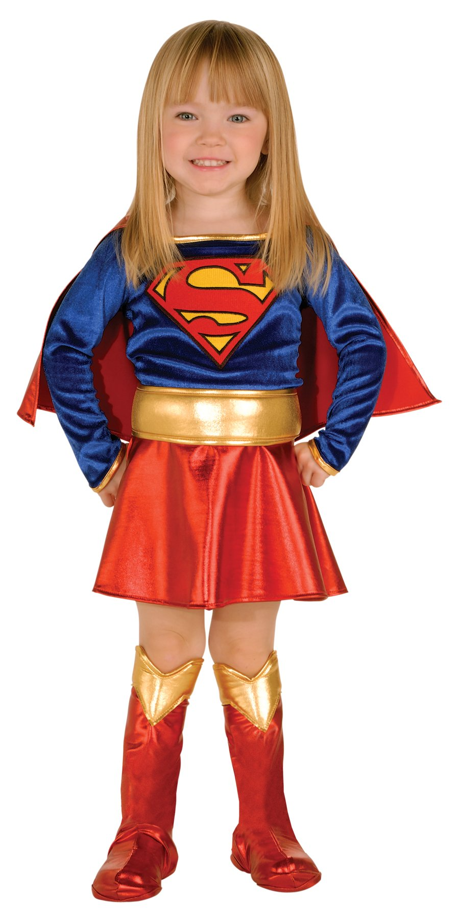 - 71jewXlJBPL - Dc Comics Supergirl Deluxe Outfit Movie Theme Toddler Halloween Costume
