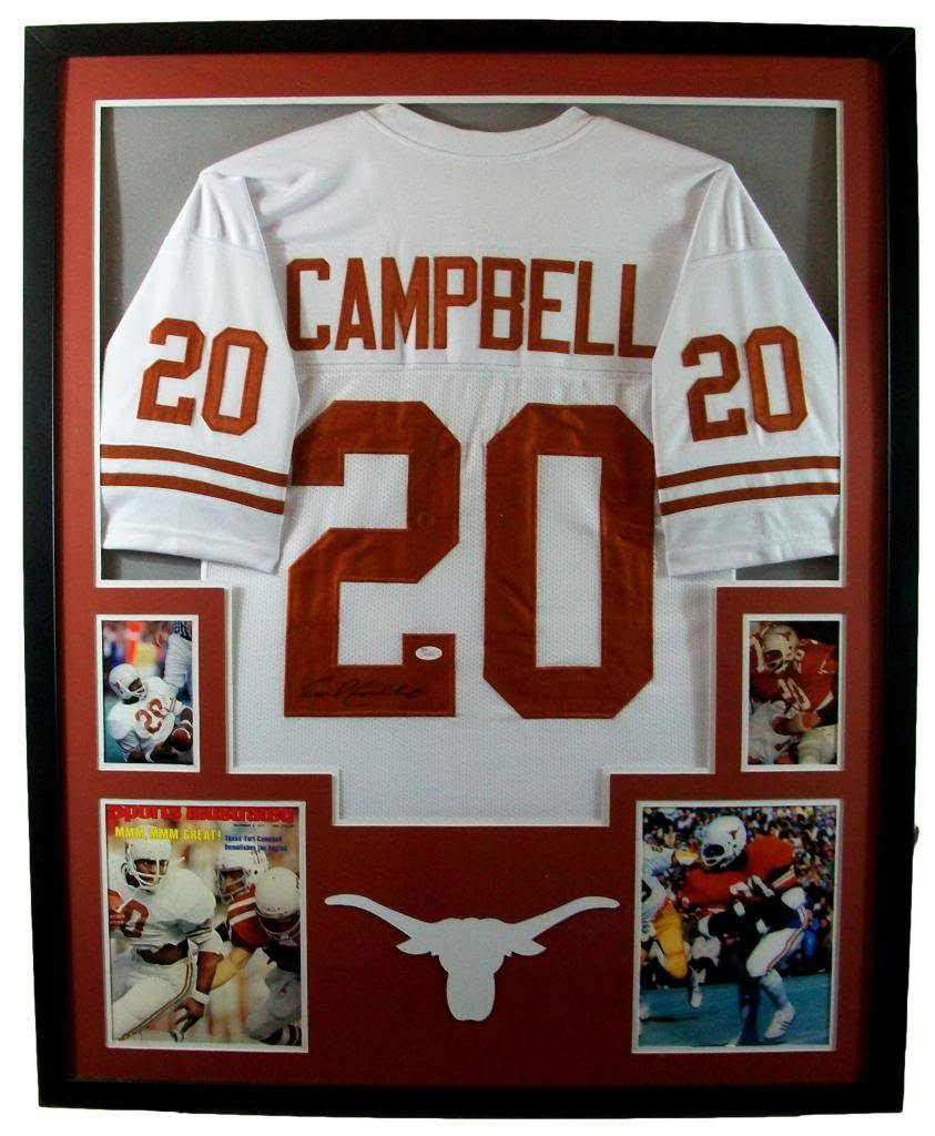 Earl Campbell Framed Jersey Signed JSA COA Autographed Texas ...