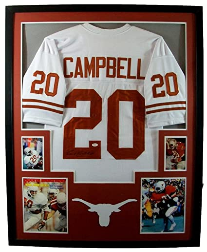 ca68ebd20 Earl Campbell Framed Jersey Signed JSA COA Autographed Texas Longhorns Houston  Oilers at Amazon s Sports Collectibles Store