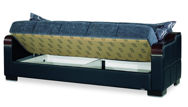 Amazon.com: Casamode Uptown Sofa Bed Gray Chenille: Kitchen ...