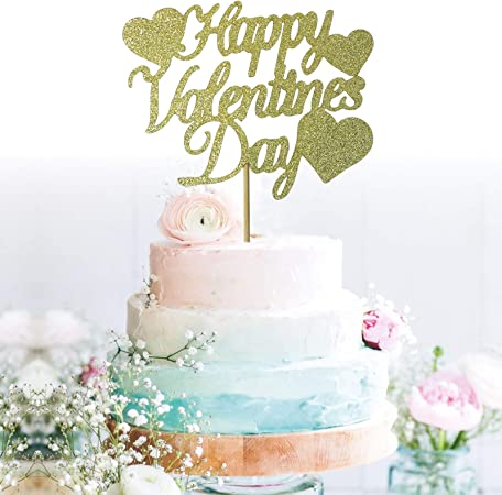 X1 Envelope /& X2 Cupid Valentine\u2019s Set Glitter Cupcake Toppers