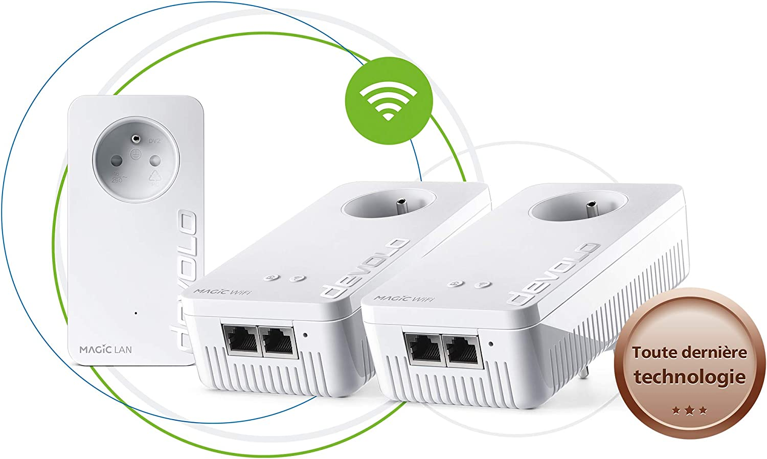 devolo Magic 1 WiFi : Kit CPL Multiroom pour un WiFi ac...
