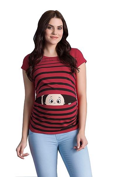 Ropa premamá Divertida y Adorable, Camiseta con Estampado, Regalo Durante el Embarazo - Manga Corta: Amazon.es: Ropa y accesorios